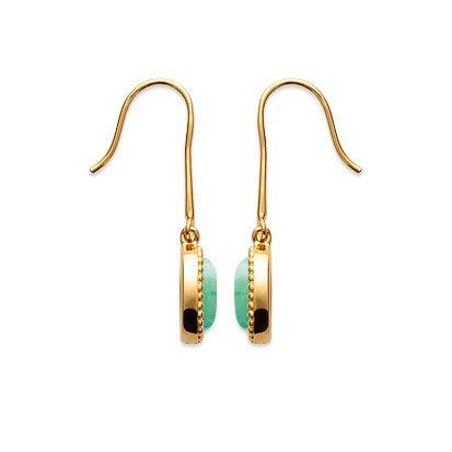 Aventurine 'Alexandra' Earrings - Gold Plated 750