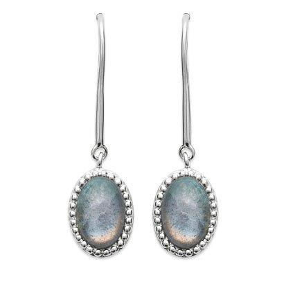 Labradorite 'Alexandra' Earrings - Silver 925