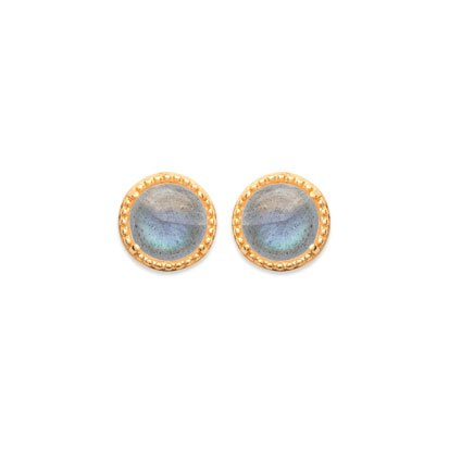 Labradorite 'Constantine' Earrings - Gold Plated 750