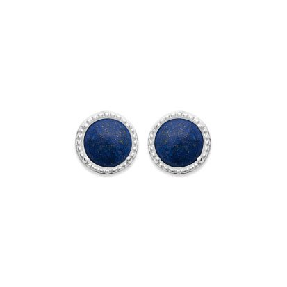 Lapis Lazuli 'Constantine' Earrings - Silver 925