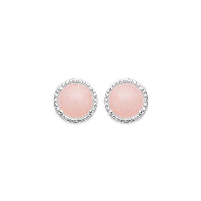 Rose Quartz 'Constantine' Earrings - Silver 925