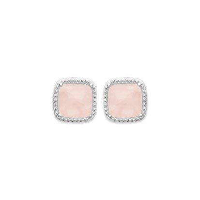 boucle d'oreilles quartz rose argent 925