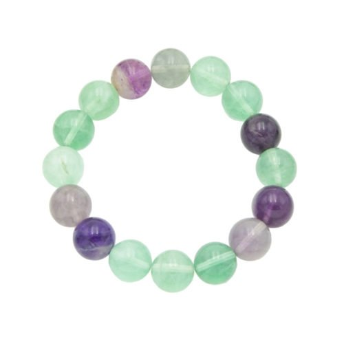 Multicoloured Fluorite Bracelet - 12 mm Bead