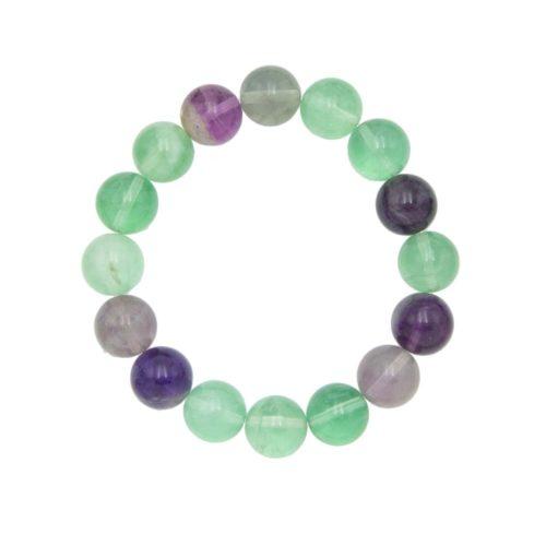 Multicoloured Fluorite Bracelet - 12 mm Bead