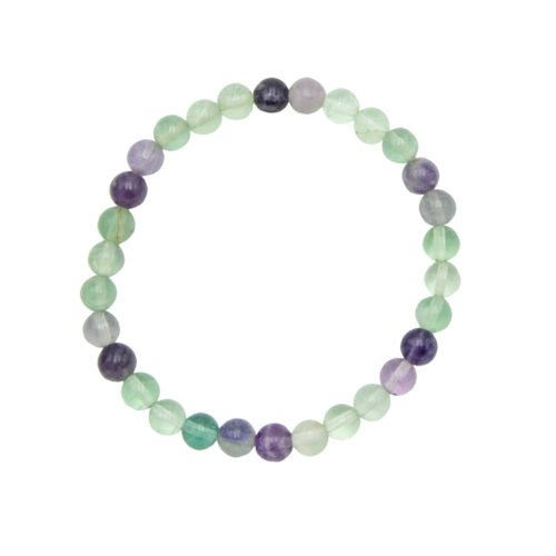 Multicoloured Fluorite Bracelet - 6 mm Bead