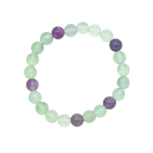 Multicoloured Fluorite Bracelet - 8 mm Bead