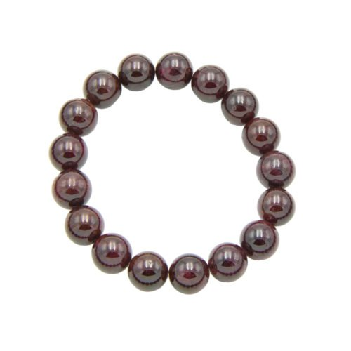 Red Garnet Bracelet - 10 mm Bead
