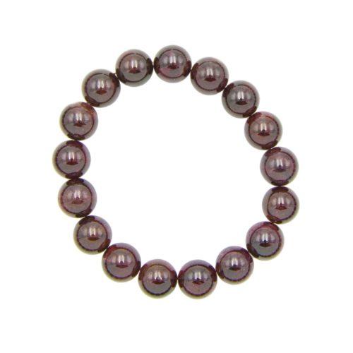 Red Garnet Bracelet - 10 mm Bead
