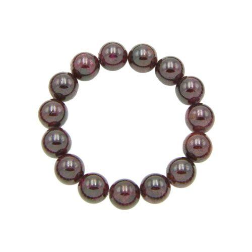 Red Garnet Bracelet - 12 mm Bead