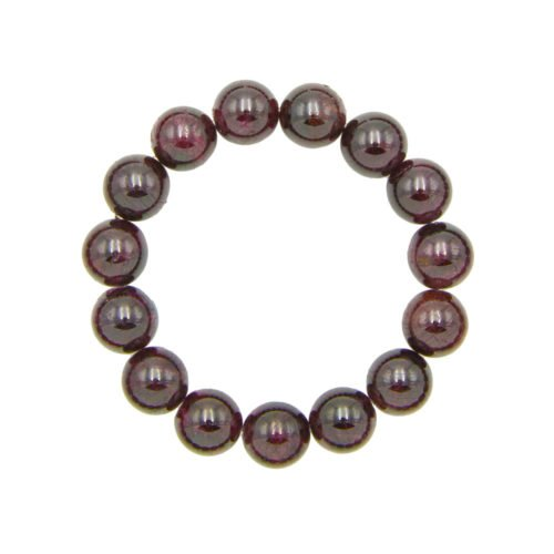 Red Garnet Bracelet - 12 mm Bead