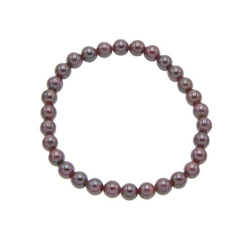 Red Garnet Bracelet - 6 mm Bead