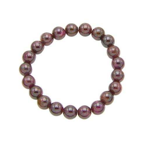 Red Garnet Bracelet - 8 mm Bead