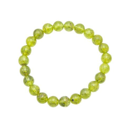 Peridot Bracelet - 8 mm Bead