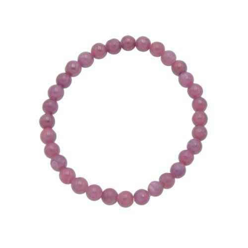Ruby Bracelet - 6 mm Bead