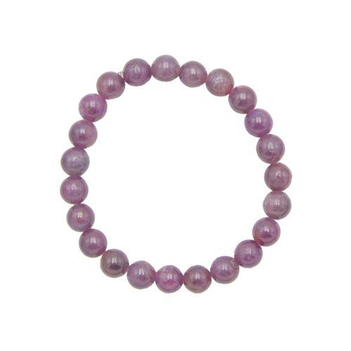 Ruby Bracelet - 8 mm Bead