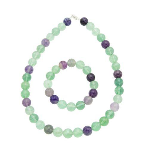 Multicoloured Fluorite Gift Set - 12 mm Bead