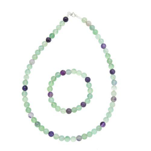 Multicoloured Fluorite Gift Set - 8 mm Bead