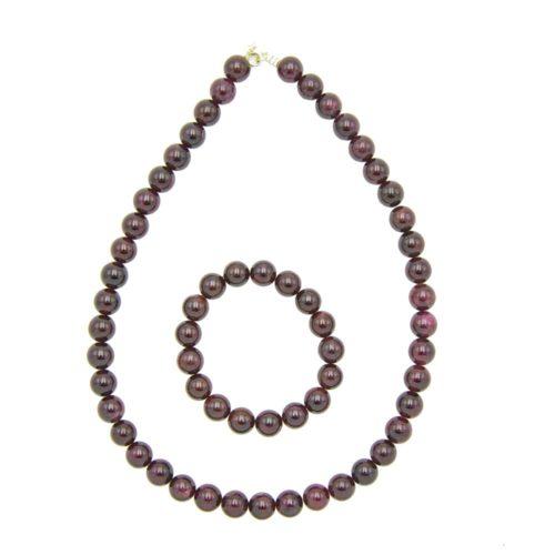 Red Garnet Gift Set - 10 mm Bead
