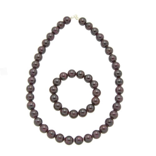 Red Garnet Gift Set - 12 mm Bead