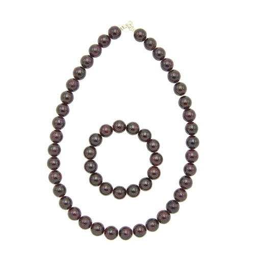 Red Garnet Gift Set - 12 mm Bead