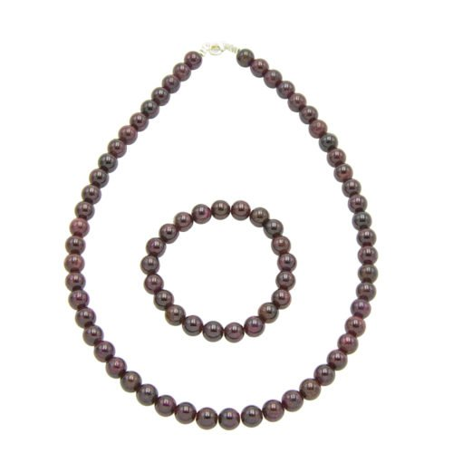 Red Garnet Gift Set - 8 mm Bead