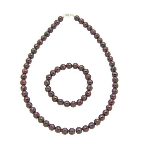 Red Garnet Gift Set - 8 mm Bead