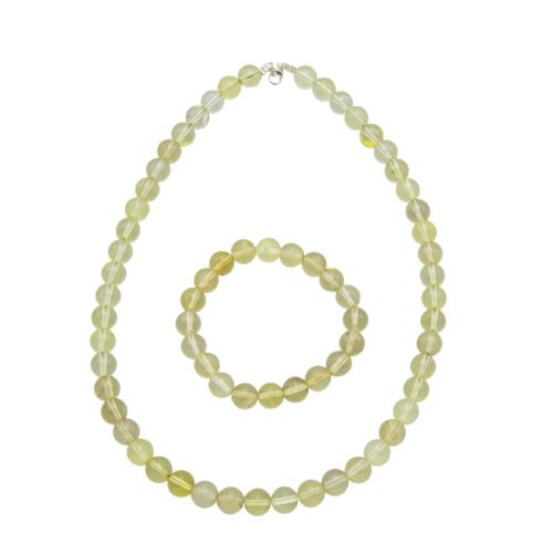 Lemon Topaz Gift Set - 10 mm Bead