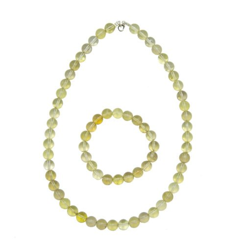Lemon Topaz Gift Set - 10 mm Bead