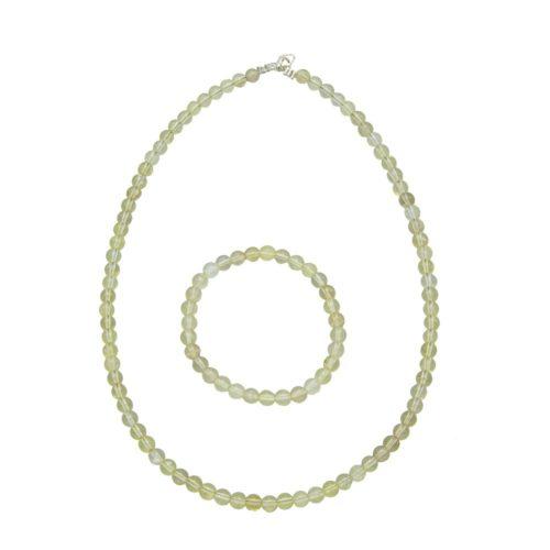 Lemon Topaz Gift Set - 6 mm Bead