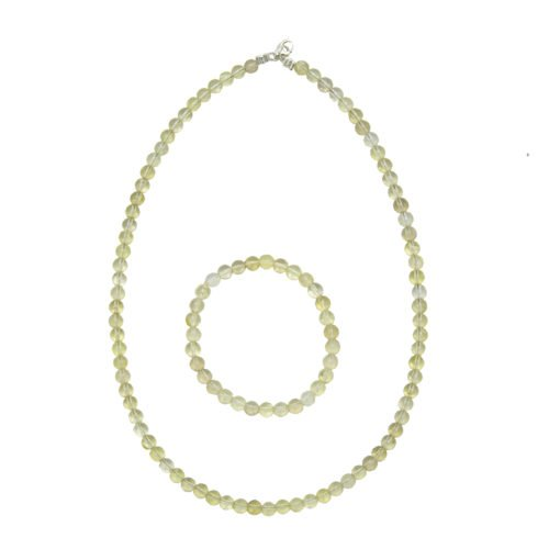 Lemon Topaz Gift Set - 6 mm Bead