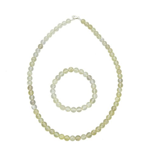 Lemon Topaz Gift Set - 8 mm Bead