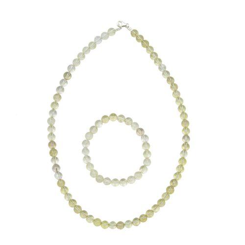 Lemon Topaz Gift Set - 8 mm Bead