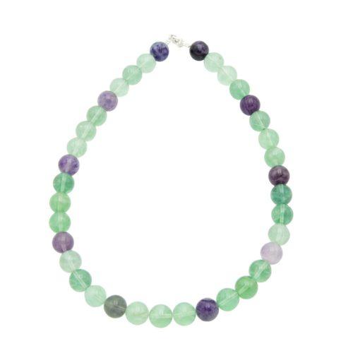 Multicoloured Fluorite Necklace - 12 mm Bead