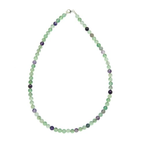 Multicoloured Fluorite Necklace - 6 mm Bead