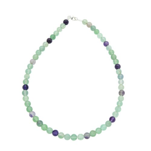 Multicoloured Fluorite Necklace - 8 mm Bead
