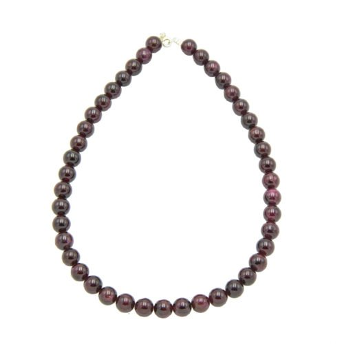 Red Garnet Necklace - 10 mm Bead
