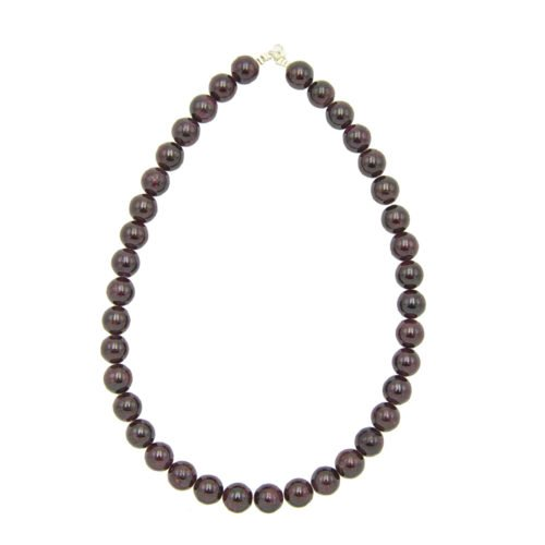 Red Garnet Necklace - 12 mm Bead