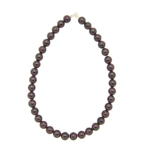 Red Garnet Necklace - 12 mm Bead
