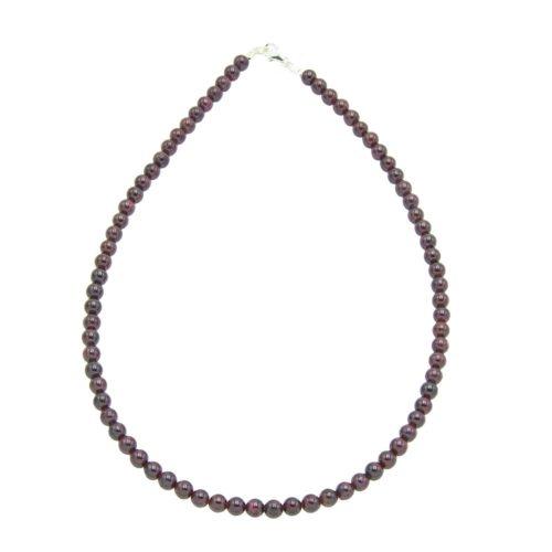 Red Garnet Necklace - 6 mm Bead
