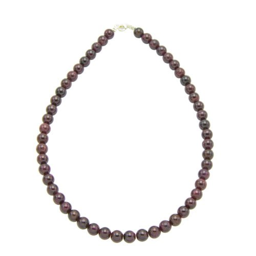 Red Garnet Necklace - 8 mm Bead