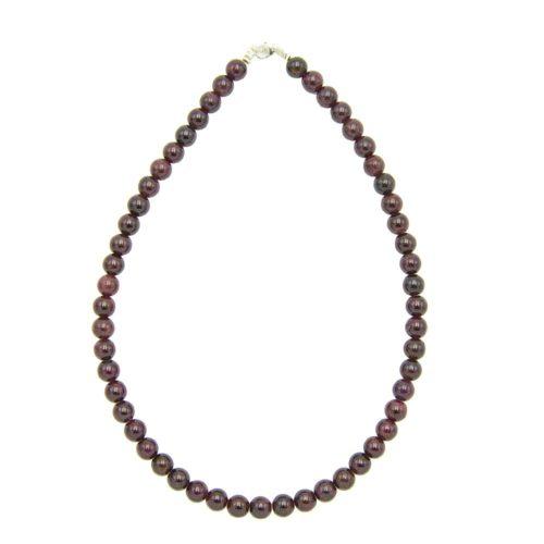 Red Garnet Necklace - 8 mm Bead