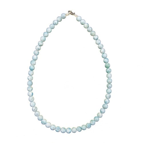 Larimar Necklace - 8 mm Bead