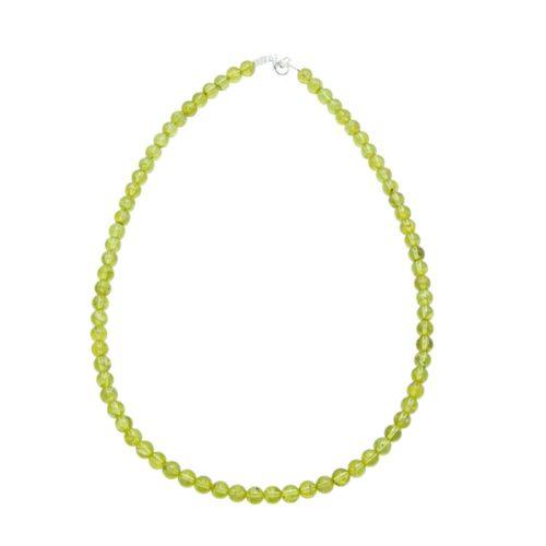 Peridot Necklace - 6 mm Bead