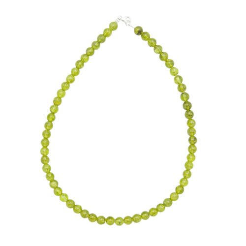 Peridot Necklace - 8 mm Bead