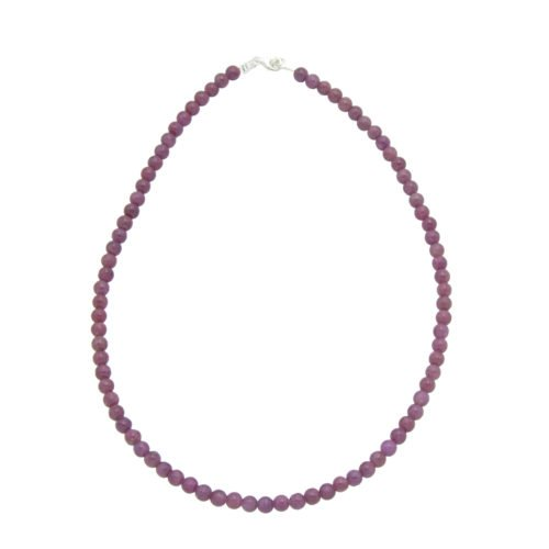 Ruby Necklace - 6 mm Bead