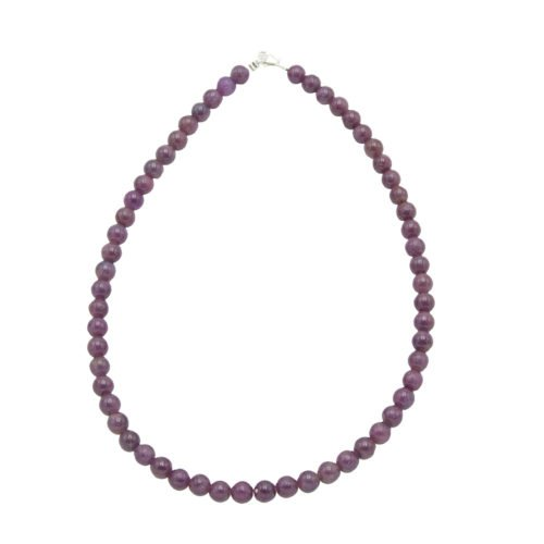 Ruby Necklace - 8 mm Bead