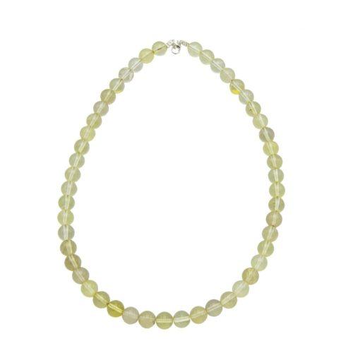 Lemon Topaz Necklace - 10 mm Bead