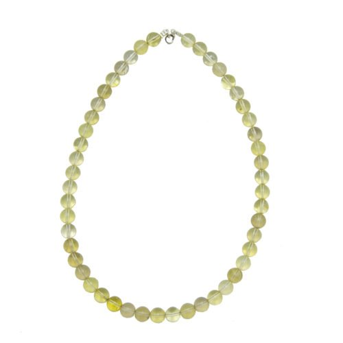 Lemon Topaz Necklace - 10 mm Bead