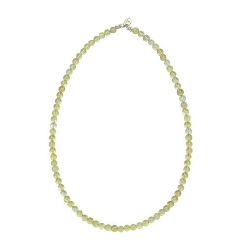 Lemon Topaz Necklace - 6 mm Bead