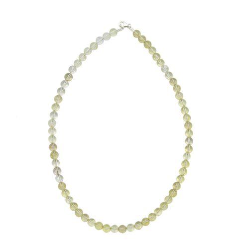 Lemon Topaz Necklace - 8 mm Bead
